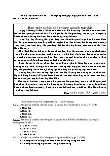 Đề thi môn Tiếng Việt Lớp 4 cuối Học kì II