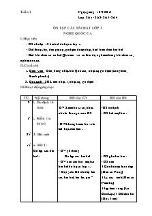 Giáo án Âm nhạc Lớp 2 - Chương trình cả năm - Năm học 2014-2015