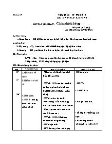 Giáo án Âm nhạc Lớp 2 - Tuần 27: Ôn tập bài hát Chim chích bông - Năm học 2014-2015