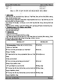 Giáo án Âm nhạc Lớp 5 - Chương trình cả năm - Lê Thị Thu
