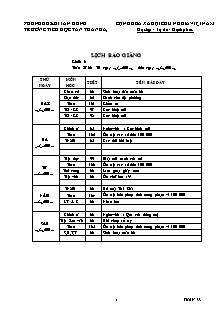 Giáo án báo giảng Lớp 3 - Tuần 33 - Trường Tiểu học Tân Thành A3
