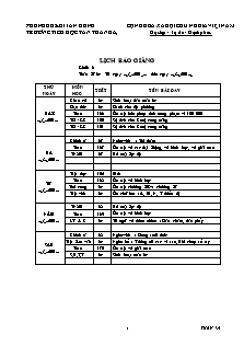 Giáo án báo giảng Lớp 3 - Tuần 34 - Trường Tiểu học Tân Thành A3