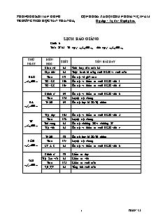 Giáo án báo giảng Lớp 3 - Tuần 35 - Trường Tiểu học Tân Thành A3