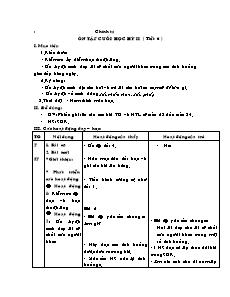 Giáo án Chính tả Lớp 2 - Ôn tập cuối học kỳ II (Tiết 6)