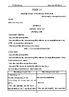 Giáo án Mĩ thuật Lớp 3,4,5 - Tuần 23 - Năm học 2016-2017 - Vũ Thị Nhanh