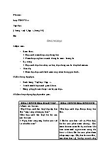 Giáo án Tập đọc Lớp 3 - Bài: Ông ngoại (Chuẩn kiến thức kĩ năng)