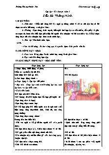 Giáo án Tập đọc Lớp 3 - Học kì 1 - Vũ Thị Hạ