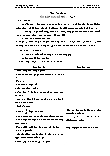 Giáo án Tiếng Việt Lớp 3 - Tuần 18 - Vũ Thị Hạ