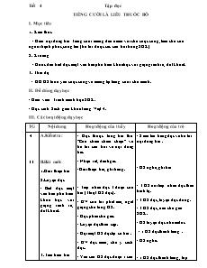 Giáo án Tiếng Việt Lớp 4 - Tuần 34