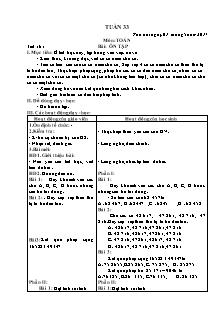 Giáo án tổng hợp Toán, Tiếng Việt Lớp 3 - Tuần 33 - Năm học 2016-2017
