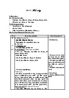 Giáo án Tự nhiên và xã hội Lớp 3 - Bài 43: Rễ cây