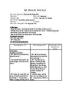 Kế hoạch bài dạy Chính tả Lớp 5 - Tuần 25: Nghe viết - Ai là thủy tổ loài người? - Nguyễn Thị Ngọc Ánh