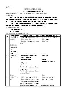 Kế hoạch bài dạy môn Đạo đức Lớp 1 - Bài 13: Chào hỏi và tạm biệt (Tiết 2) - Năm học 2013-2014