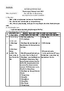 Kế hoạch bài dạy môn Đạo đức Lớp 1 - Tuần 34: Tìm hiểu lịch sử địa phương Hà Nội ngàn năm văn hiến - Năm học 2013-2014