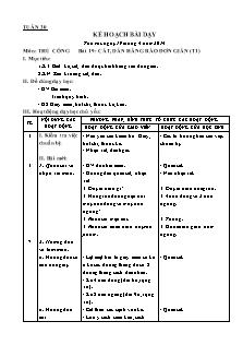 Kế hoạch bài dạy môn Thủ công Lớp 1 - Bài 19: Cắt, dán hàng rào đơn giả (Tiết 1) - Năm học 2013-2014