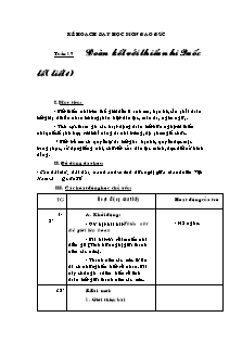 Kế hoạch dạy học môn Đạo đức Lớp 3 - Bài 9: Đoàn kết với thiếu nhi quốc tế (Tiết 1)