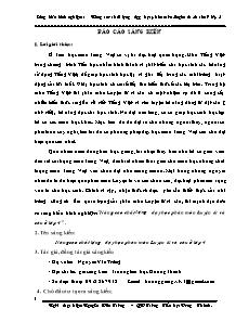 Sáng kiến kinh nghiệm Nâng cao chất lượng dạy học phân môn Luyện từ và câu ở lớp 4 - Nguyễn Văn Trường