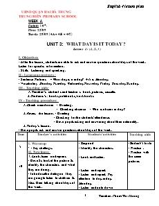 English 4 Lesson Plan - Week 4, Period 10 to 12 - Pham Thi Huong