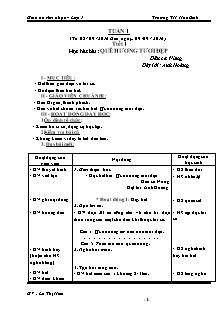Giáo án Âm nhạc Lớp 1 - Chương trình cả năm - Năm học 2016-2017 - Lê Thị Hiền