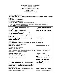 Giáo án Chính tả Lớp 4 - Tuần 7 đến 10 - Năm học 2015-2016 - Châu Anh Thơm