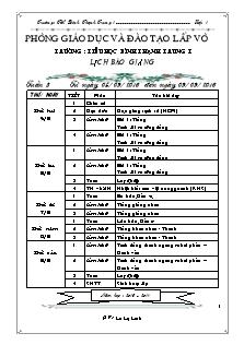 Giáo án Lớp 1 - Tuần 3 - Năm học 2016-2017 - Lê Lệ Linh