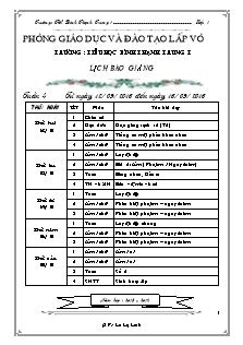 Giáo án Lớp 1 - Tuần 4 - Năm học 2016-2017 - Lê Lệ Linh