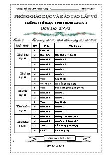 Giáo án Lớp 1 - Tuần 8 - Năm học 2016-2017 - Lê Lệ Linh