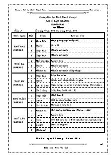 Giáo án Lớp 2 - Tuần 5 - Năm học 2013-2014 - Cao Hữu Sinh