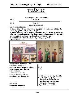 Giáo án Lớp 5 - Tuần 27 - Năm học 2016-2017 - Trường Tiểu học Lê Hồng Phong