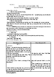 Giáo án Tập đọc Lớp 2 - Tuần 1 - Trần Đặng Thị Vi Na