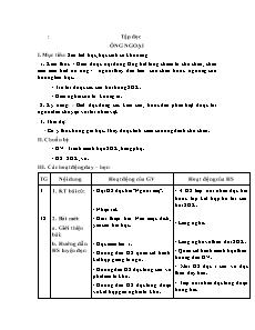 Giáo án Tập đọc Lớp 3 - Tuần 4, Bài: Ông ngoại