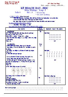 Giáo án Thể dục Lớp 1 - Chương trình cả năm - Trần Nam Hưng