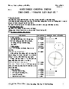 Giáo án Thể dục Lớp 3 - Chương trình cả năm - Nguyễn Văn Chinh Lâm