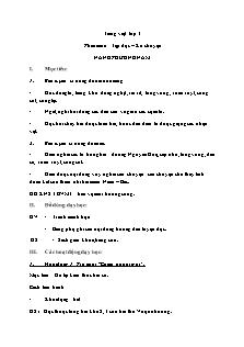 Giáo án Tiếng Việt Lớp 3 - Tập đọc - Kể chuyện: Nắng phương Nam