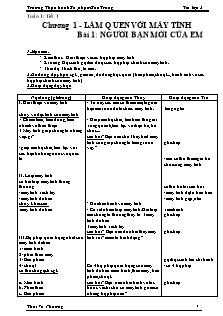 Giáo án Tin học Lớp 3 - Chương trình cả năm - Thái Vũ Phương