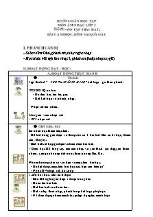Hướng dẫn học tập môn Âm nhạc Lớp 3 - Tiết 9: Ôn tập 3 bài hát Bài ca đi học, Đếm sao, Gà gáy