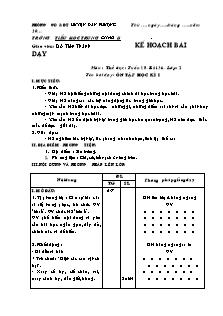 Kế hoạch bài dạy Thể dục Lớp 2 - Tuần 18, Bài 36: Ôn tập học kì I - Đỗ Tiến Thành