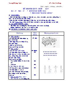 Kế hoạch dạy học môn Thể dục Lớp 5 - Bài 27: Động tác điều hòa, Trò chơi thăng bằng - Trần Nam Hưng