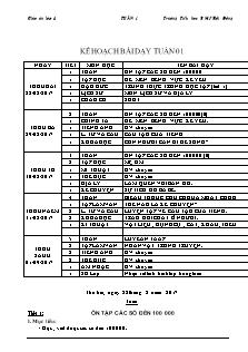 Giáo án Lớp 4 - Tuần 1 - Năm học 2017-2018 - Trường Tiểu học B Mỹ Hội Đông