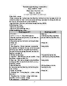 Giáo án Tập làm văn Lớp 4 - Tuần 15 đến 18 - Năm học 2015-2016 - Châu Anh Thơm