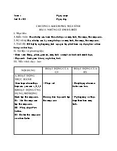 Giáo án Tin học Lớp 4 - Tuần 1 đến 7