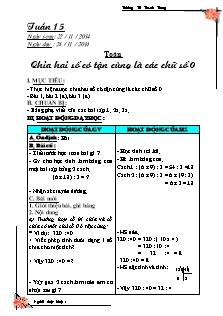 Giáo án Toán, Tiếng Việt Lớp 4 - Tuần 15 - Năm học 2016-2017 - Trường Tiểu học Thanh Trung