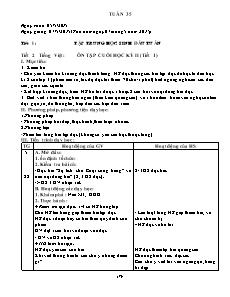 Kế hoạch bài dạy Lớp 3 - Tuần 35 - Năm học 2014-2015 - Trần Đức Huân