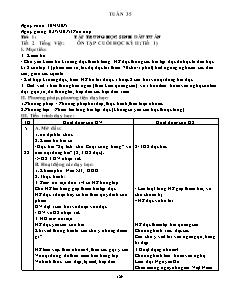 Kế hoạch bài dạy Lớp 3 - Tuần 35 - Năm học 2015-2016 - Trần Đức Huân