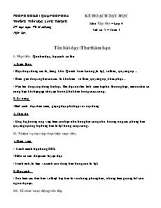 Kế hoạch dạy học Lớp 4 - Tuần 3 - Vũ Mai Hương